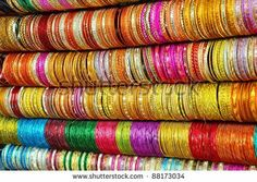 stock photo : Colorful Indian bangles