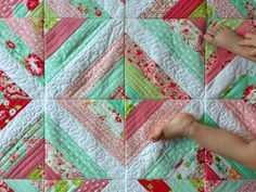 Quilt as you Go Strip Quilt - Quilting In The Rain