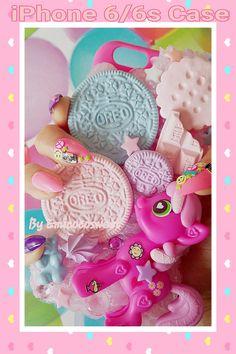 My Pony Phone Case Decoden Phone Case,Decoden iPhone Kawaii Phone Decoden Phone Case, Kawaii Phone Case, Diy Phone Case, Cute Phone Cases, Iphone 6, Iphone Cases, Kawaii Dessert, Bear Cookies, Pinkie Pie
