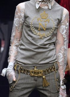 Dolce & Gabbana--I want a couple of these tops with the fancy sleeves. Where's my thimble?