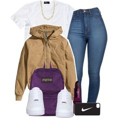 Untitled #434 by mufassa on Polyvore featuring Polo Ralph Lauren, H&M, NIKE, JanSport, Fremada and Lipstick Queen