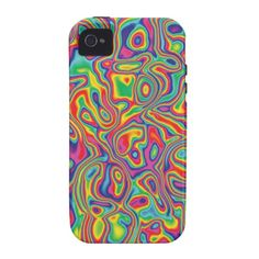 Psychedelic Rainbow Oil Pattern cell phone case  by hippygiftshop on Zazzle