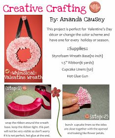 green owl crafts: { DIY::valentine wreath }