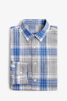 Madras Check Linen Shirt - casual shirts | Adolfo Dominguez Stylish Shirts, Casual Shirts For Men, Picnic Outfits, Check Shirt Man, Spring Shirts, Plaid Fabric, Men's Coats And Jackets, Mens Clothing Styles, Mens Suits