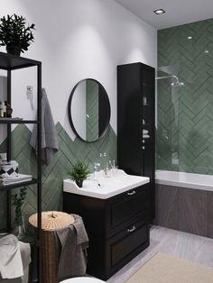 Interior design of a bathroom in a modern style from a project Best Bathroom Designs, Bathroom Design Luxury, Modern Bathroom Design, Luxury Interior Design, Apartment Bathroom Design, Apartment Interior Design, Interior Design Living Room, Small Toilet Decor, Simple Bedroom Design