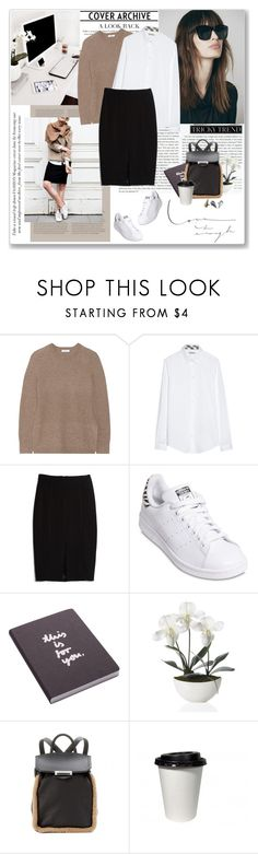 """""""..."""" by yexyka ❤ liked on Polyvore featuring Stop Staring!, Equipment, Burberry, MANGO, adidas Originals, Nuuna, Alexander Wang and Made Her Think"""