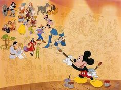 Mickey mouse wall mural!