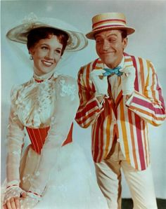 Mary Poppins 1964 Film Mary Poppins is a 1964 musical film starring Julie Andrews, Dick Van Dyke, David Tomlinson, and Glynis Johns, produced by Walt Disney, and based on the Mary Poppins books series by P. L. Travers