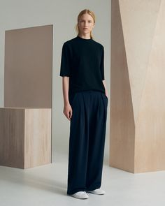 August Eve organic cotton top and Astra wool trousers - sustainable wardrobe essentials by utopiast.com - fall/winter