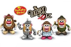 The Wizard of Oz Potatoheads -- yes!this is for you, Jenny!!