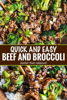 Quick and Easy Beef and Broccoli ~ perfect Chinese takeout-style stir fry, made in about 30 minutes, right in your own kitchen! #beefandbroccoli #Chinese #takeout #stirfry #easyrecipe #easydinner #beef #broccoli #chineserecipe #takeout #simpledinner
