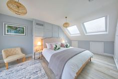 Nicely completed rear dormer conversion with one bedroom & shower room. Loft Bedroom Decor, Attic Bedroom Designs, Loft Room, Upstairs Bedroom, Bedroom Styles, Attic Bedrooms, Bedroom Décor, Bedroom Ideas, Bungalow Loft Conversion