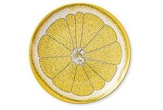 Set of four fun, lemon plates. Garden Romance | One Kings Lane