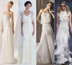 Vestidos de novia de estilo años 20, de Rosa Clará, Catherine Deane, Manuel Mota y YolanCris