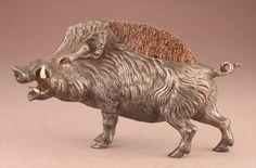 1 of 5 : Bronze Warthog Pen Wipe, 19th C; W8CMB