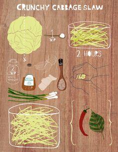Crunchy Cabbage Slaw recipe