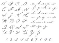 Depository Of Handwriting And Calligraphy Styles and Discussion - Calligraphy Discussions Calligraphy Fonts Alphabet, Tattoo Fonts Cursive, Handwriting Alphabet, Handwriting Styles, Hand Lettering Alphabet, Penmanship, Caligraphy, Handwriting Practice, Script Fonts