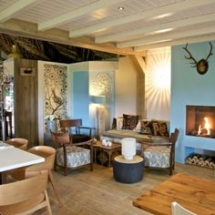 Inside * The Barn * Wood * Blue * Dennenoord Holiday Hotel, Lunch Room, High Tea, Bed And Breakfast, Restaurant Bar, Barn Wood, Interior And Exterior, Relax, Dining Table