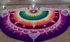 Get best rangoli designs for Diwali and make these beautiful and latest rangoli designs in your home. Create best rangoli designs for Diwali for competition Best Rangoli Design, Easy Rangoli Designs Diwali, Rangoli Designs Latest, Simple Rangoli Designs Images, Rangoli Designs Flower, Free Hand Rangoli Design, Rangoli Border Designs, Small Rangoli Design, Rangoli Patterns