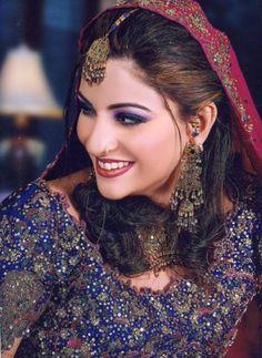 New ideas pakistani bridal makeup brides desi wedding Pakistani Bridal Makeup, Indian Bridal Wear, Beautiful Indian Brides, Beautiful Bride, Desi Wedding, Wedding Bride, Wedding Ceremony, Exotic Beauties, Sari