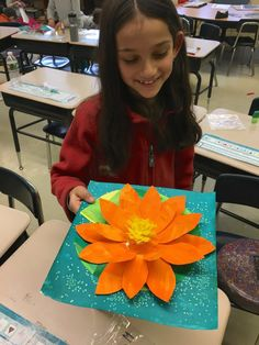 Grade Art Lessons : Please Note: All images seen below are of my students artwork only. These photos/lessons are not posted in any particular order regarding the flow of my curriculum. Abstract Self-Portrait Paintings… Spring Art Projects, Toddler Art Projects, School Art Projects, 3d Art Projects, Les Nénuphars Monet, 2nd Grade Crafts, First Grade Art, Grade 3, 3rd Grade Art Lesson