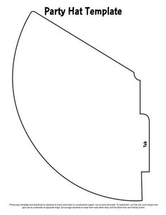 It is a graphic of Universal Party Hat Templates Printable