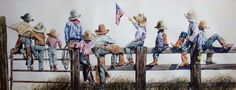 Western watercolor paintings by Nelson Boren.
