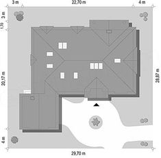 Projekt domu Rezydencja Parkowa 3 259,28 m2 - koszt budowy - EXTRADOM Floor Plans, American Houses, Facades, House, Floor Plan Drawing, House Floor Plans