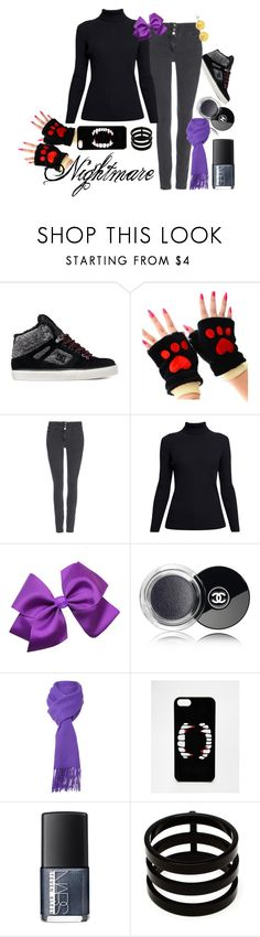"""""""Nightmare (FNAF)"""" by silver-paradoxx ❤ liked on Polyvore featuring Wallis, Rumour London, Chanel, Boutique Moschino, ASOS, NARS Cosmetics, Repossi, Lord & Taylor, nightmare and fivenightsatfreddys"""