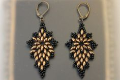 Bronze SuperDuo Earrings by AngelWhispersJewelry.