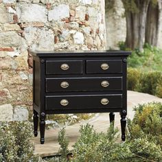 Louis XVI 4 Drawer Bedside Table
