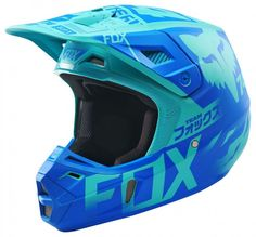 All New Fox Racing 2015 Limited Edition Union Helmet Aqua available at Motocrossgiant. Check Out the Complete Line of Fox Racing Helmets all at the Lowest Price! Dirt Bike Helmets, Dirt Bike Gear, Motocross Helmets, Racing Helmets, Dirt Biking, Fox Motocross, Motocross Outfits, Scrambler Motorcycle, Motorcycle Gear