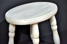 "vintage stool ""after""/ Learn how to create a Color Wash with #chalkyfinish paint / www.mrshinesclass.com"