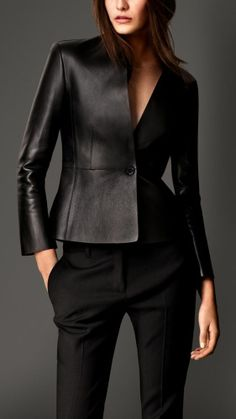 New Women Black 100% Genuine Lambskin Leather Biker Jacket Size 2 -16 Sale #Creer #BasicJacket