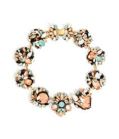 Informed with an enduring aesthetic sensibility, this mixed crystal choker from It-accessory line Erickson Beamon is fit for a silver screen starlet* Crystal-laden floral clusters with metallic backing, fold-over closure #Stylebop