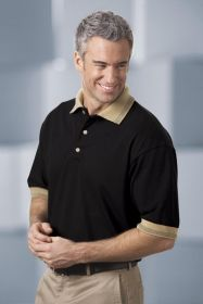 Promotional Products Ideas That Work: Men's cotton pique polo with multi-birdseye stripe. Get yours at www.luscangroup.com