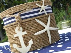 Card Basket For Nautical Themed Wedding
