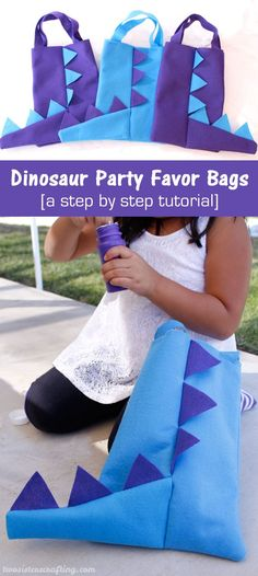 Our Dinosaur Party Favor Bags are adorable, fun and so easy to make. The Dinosaur fans at your Dinosaur Birthday Party will love them - what a great way to say thanks for coming to our Dinosaur Party. Follow us for more fun Dinosaur Party Ideas.