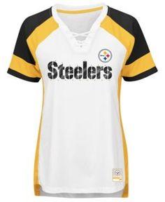Majestic Women's Pittsburgh Steelers Draft Me T-Shirt - White XXL