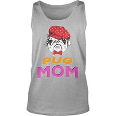 #dog #Pug in red cap and tie Mom, Order HERE ==> https://www.sunfrog.com/Pets/130640975-861594887.html?70559, Please tag & share with your friends who would love it, #birthdaygifts #renegadelife #jeepsafari
