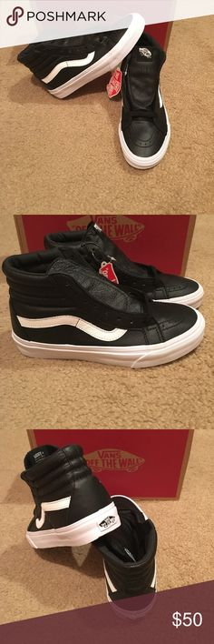 dd0e1dd99167cf Black premium Leather SK8Hi Reissue Vans New in box. Black Vans Shoes  Sneakers Black Vans