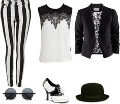 """Black & White"" by otothed on Polyvore"