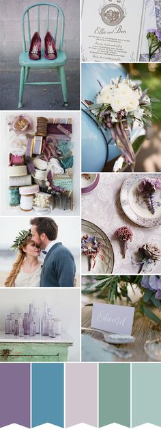 Purple and Blue Wedding Inspiration | onefabday.com