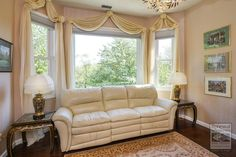 This sitting area where we installed this amazing window combination, is part of the master bedroom suite we also posted a photo of yesterday!   . . . . . .   Remodeling / Renovations / Improvements / Replacement window from Renewal by Andersen Long Island