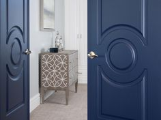Love the color of these doors, I would have done them in high gloss.  This is the Home Dreams Are Made Of: A Private Tour | Maria Killam | True Colour Expert |