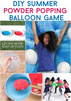 How to make the powder popping balloon game for the outdoors