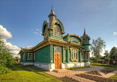 Country house of M. Shorin, Gorokhovets town, Vladimir region Original alloy of the «Russian style» & art Nouveau.