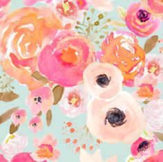 Blush Floral Fabric by the Yard Baby Girl Nursery Pink Roses