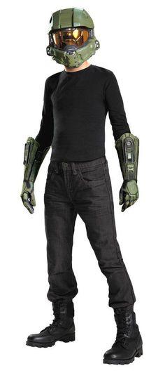 Collectibles Halo Master Chief Kids Kit Vacuform 1.2 Mask - Helmet & Gloves #DG #12MaskHelmetGloves