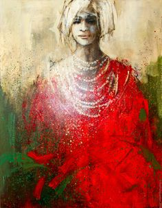 Women - by Danka Jaworska Polish Abstract Portrait, Portrait Art, Meaningful Paintings, Tableaux D'inspiration, Realism Artists, Colorful Wall Art, Mixed Media Artwork, Impressionist Art, Face Art